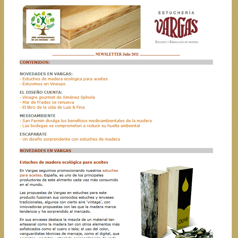 Newsletter Julio 2011